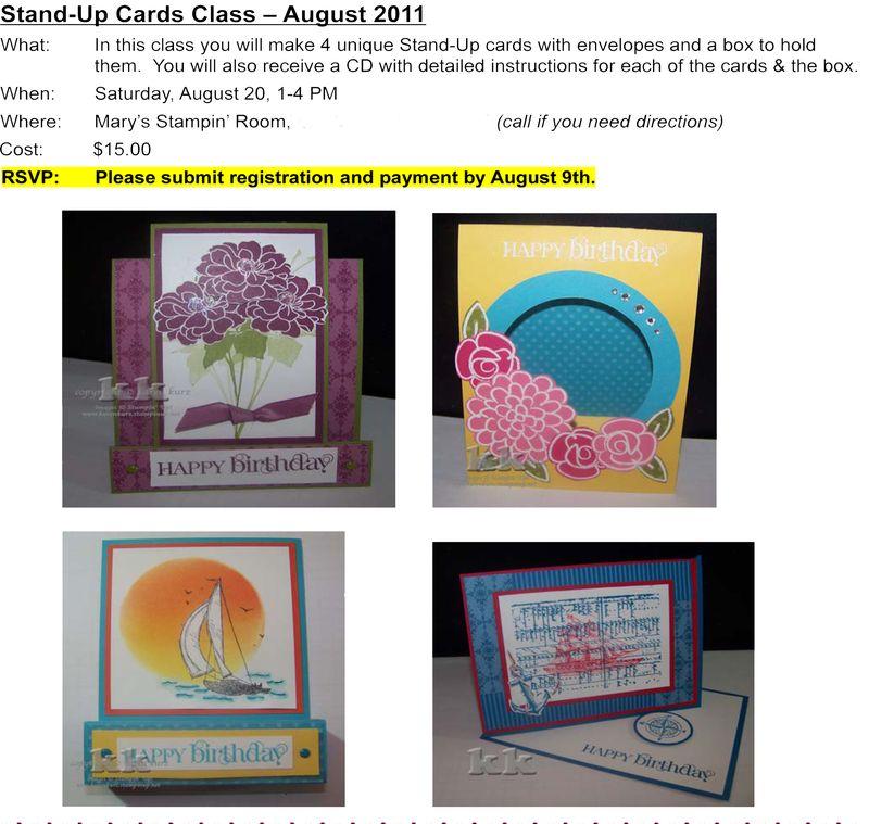 August Class Flyer 2011